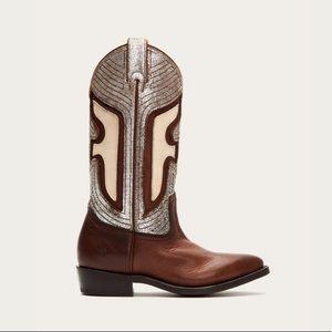 Frye Cognac Billy Underlay Leather Boot - Women